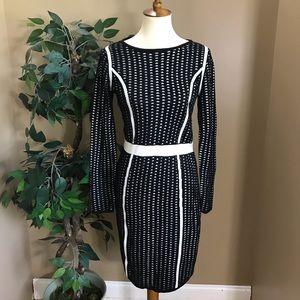 Calvin Klein Black & White Sweater Dress Small